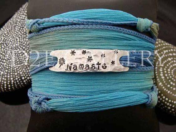 Namaste silk wrap bracelet by D2E Gallery