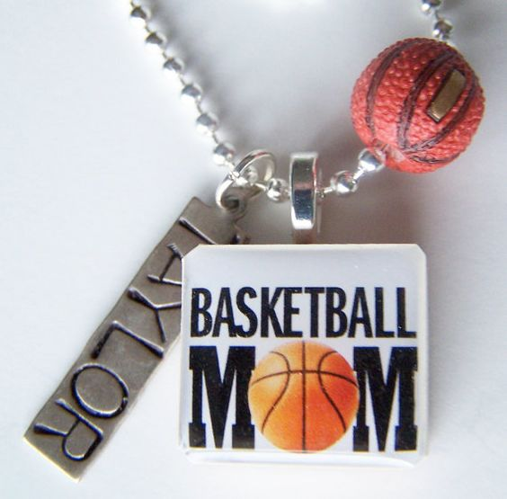 BASKETBALL MOM Scrabble Tile Pendant and Chain Only  by BusyBree, $12.00: Basketball Moms, Mom Scrabble, 4 Five Boyz, Scrabble Tiles, Basketball Mom Ideas, Basketball Mommy, Scrabbled Tiles, B Ball Momma Someday