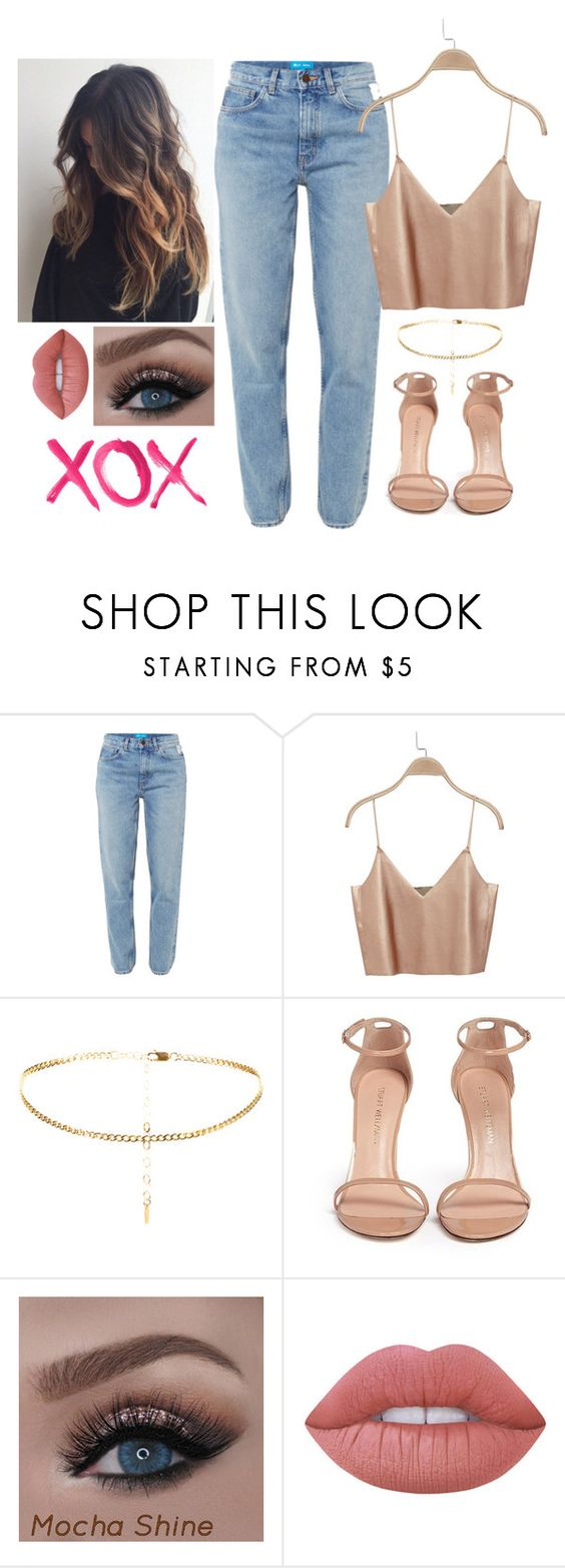 """Untitled #593"" by lejla-sabanovic ❤ liked on Polyvore featuring M.i.h Jeans, Stuart Weitzman, Lime Crime and GALA"