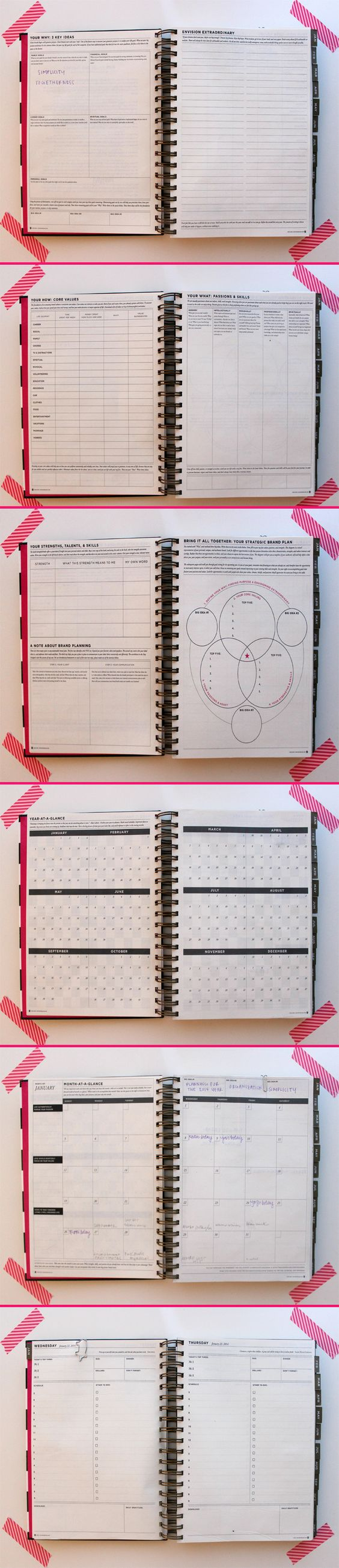2014 planner whitney english day designer review pretty for Carpool calendar template