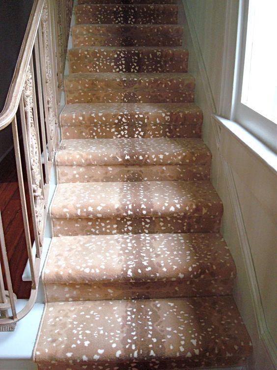 Antelope print carpet animal prints pinterest for Leopard print carpet stair runner