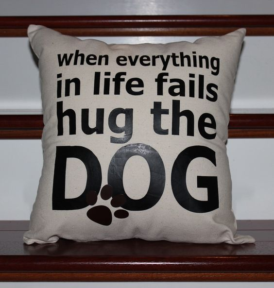 When everything in life fails hug the dog pillow by Tutusandtoothpillows on Etsy