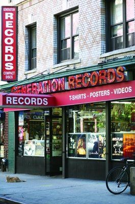 Generation Records on Thompson St., off of Washington Square Park, NYC. Apparently one of the few indie records stores still in business.