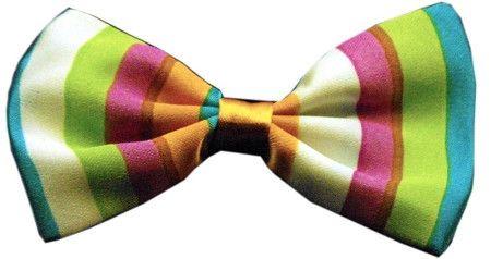 Super Fun & Festive Bow Tie for Small Dogs in Funky Stripes