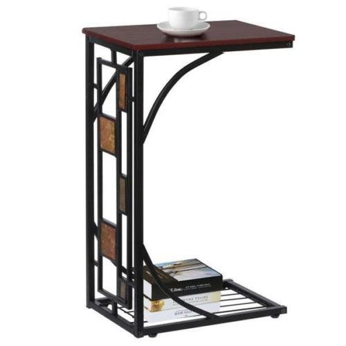 Lunanice Living Room Sofa Side Table End Snack Stand Tray With Magazine Storage Rack New In 2020 Sofa Snack Table Coffee Table Stand Sofa Side Table