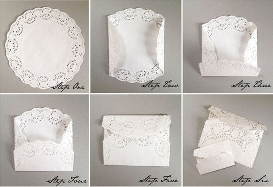 des enveloppes en dentelle pour vos faire part diy mariage wedding diy pinterest. Black Bedroom Furniture Sets. Home Design Ideas