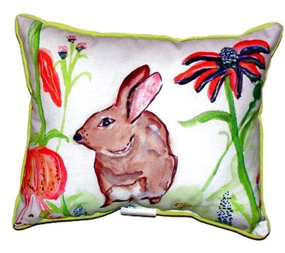Rabbit Left Indoor/Outdoor Lumbar Pillow
