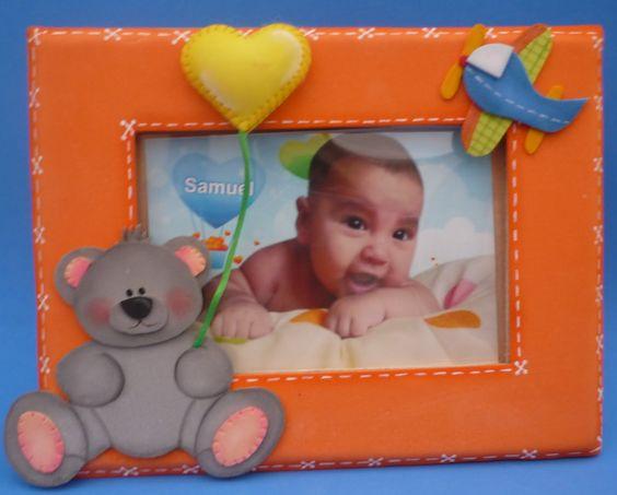 Portaretrato para bebe adornos infantiles - Cositas para bebes manualidades ...