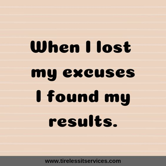 If you think about it, very few people actually have no excuses.  #ThursdayMotivation #thursdaymorning #Thursday