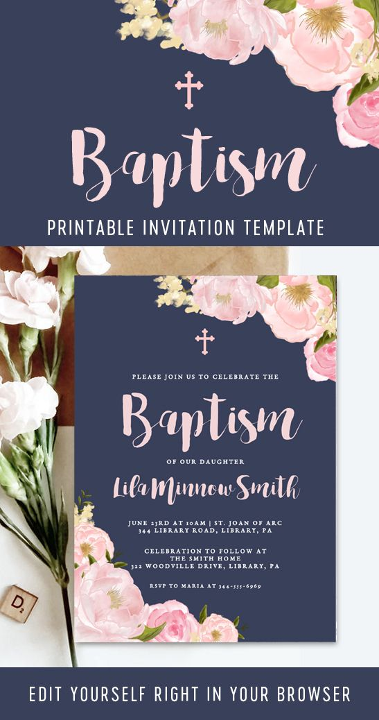 Find The Perfect Printable Printable Market Baptism Invitations Girl Baptism Invitations Christening Invitations Girl