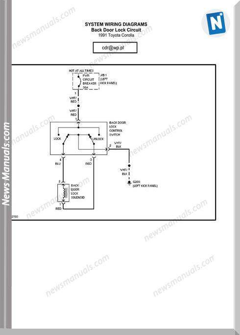 Toyota Corolla 1991 Wiring Diagram Toyota Corolla Toyota Diagram