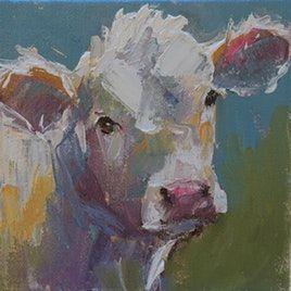 Original Art Paintings Gallery For 2018 06 01 Dailypainters Com Cow Painting Farm Animal Paintings Blue Bird Art