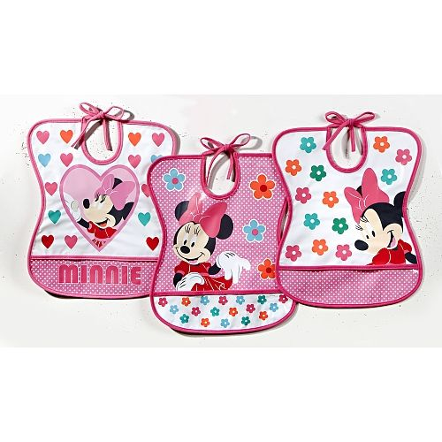 Minnie Mouse Tie Neck Bib available online at http://www.babycity.co.uk/