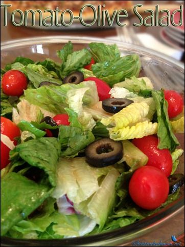 Tomato Olive Salad with Homemade Dressing | Big Beautiful Salads ...