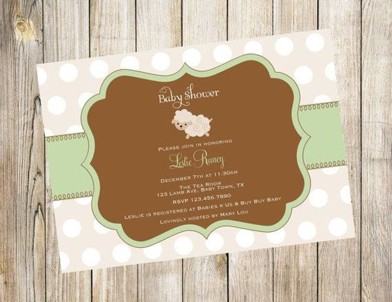 lamb baby shower ideas | Cream Little Lamb Baby Shower Invitation.. Twins by EmmyJosParties, $ ...