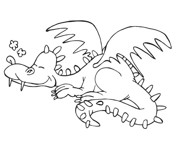Coloring Pages Of Sleeping Animals : Sleeping dragon coloring pages for kids