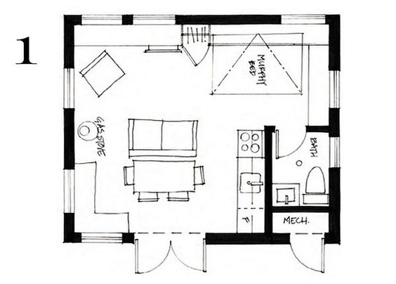 400 Ft2 37 2 M2 Studio Cottage With Sleeping Loft By