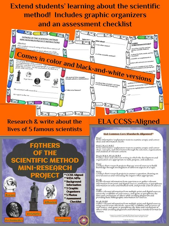 Scientific method, Research projects and Language arts on Pinterest - science project report