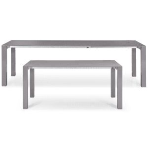The Bramante extending dining table brings an ultra sleek, minimalist look to any dining room.