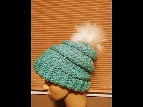 Design Your Own Loom Hat Using Only Knit Purl Stitches Youtube Loom Knitting Patterns Hat Loom Knit Hat Loom Knitting