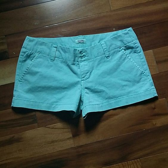 Light Teal colored shorts Cotton and spandex. Very cute! Mossimo Supply Co Shorts