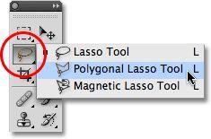 The Polygonal Lasso Tool in Photoshop. Image © 2009 Photoshop Essentials.com