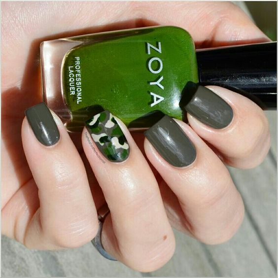 Camo Nails by YoungWildandPolished | Nails | Pinterest | Peinados y ...
