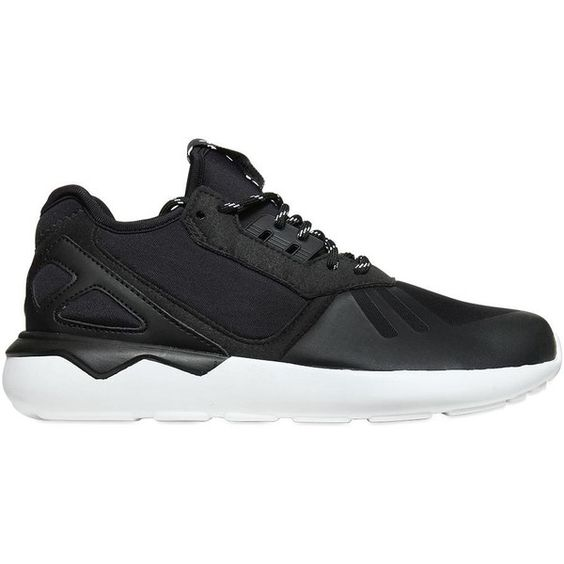 ADIDAS ORIGINALS Tubular Neoprene Sneakers - Black ($77) ❤ liked on Polyvore featuring jack hills, shoes and black