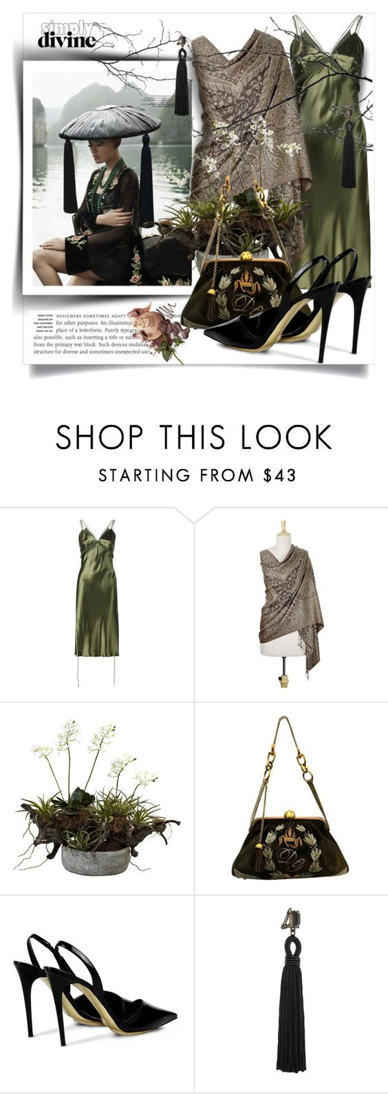 """#306"" by monazor ❤ liked on Polyvore featuring Alexander Wang, NOVICA, Nearly Natural, Dolce&Gabbana, STELLA McCARTNEY and Oscar de la Renta"