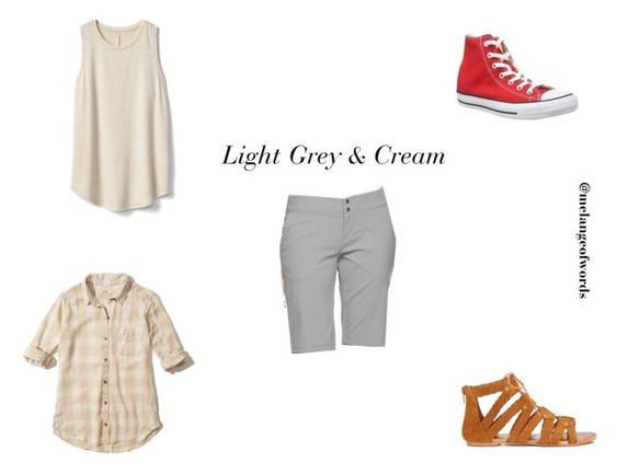 Grey & Cream Summer Outfit. by maha141193 on Polyvore featuring Hollister Co., Gap, Columbia, Converse, Miss Selfridge and summerfashion