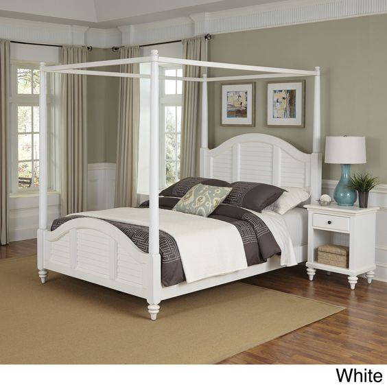 Home Styles Bermuda Canopy Bed and Night Stand (
