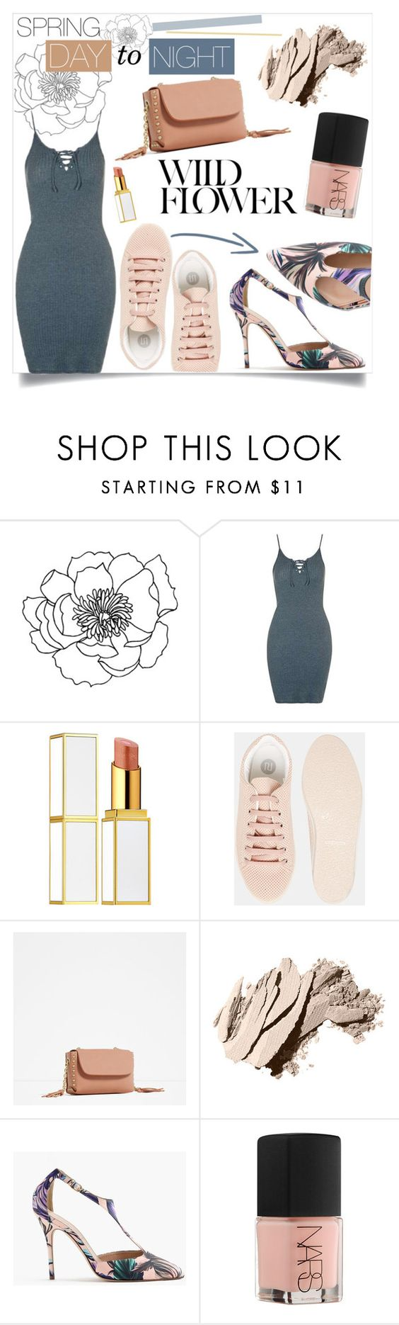 """""""spring day to night"""" by azul-blue ❤ liked on Polyvore featuring Tom Ford, River Island, Zara, Bobbi Brown Cosmetics, J.Crew, NARS Cosmetics and daytoevening"""