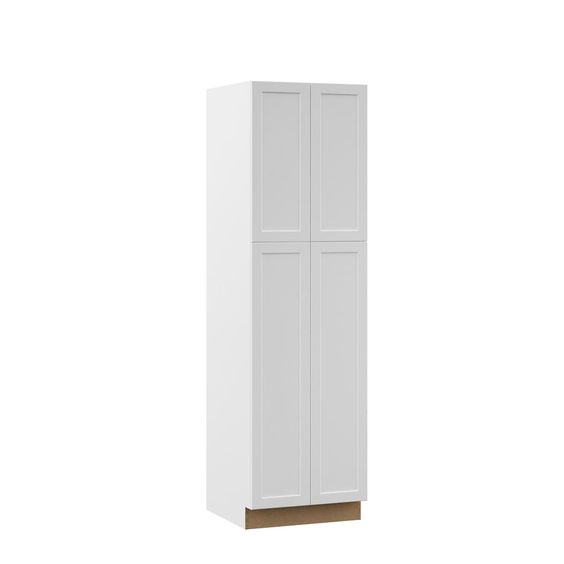 Shaker Assembled 18x84x24 In Pantry Kitchen Cabinet In Satin White Shaker Kitchen Cabinets Pantry Cabinet Small Pantry Cabinet