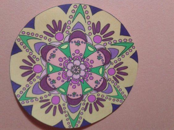 Mandala pintado por mi