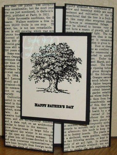 Newsprint Tree card