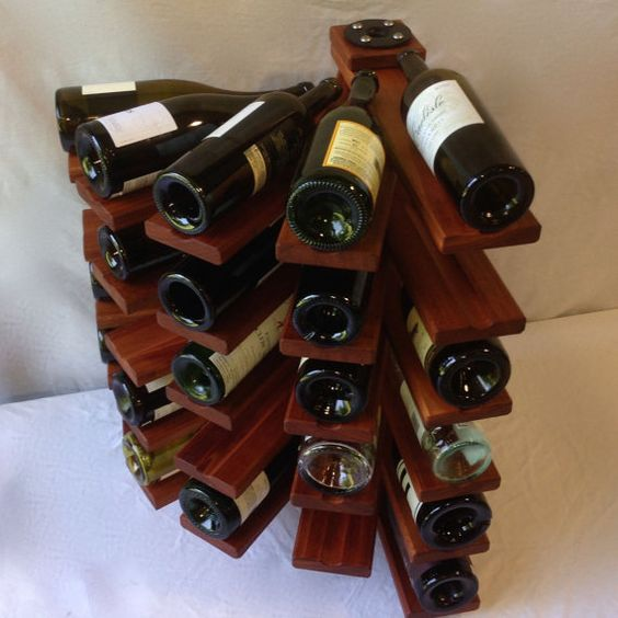 Helix Wine Rack - when a wine rack becomes a piece of art: