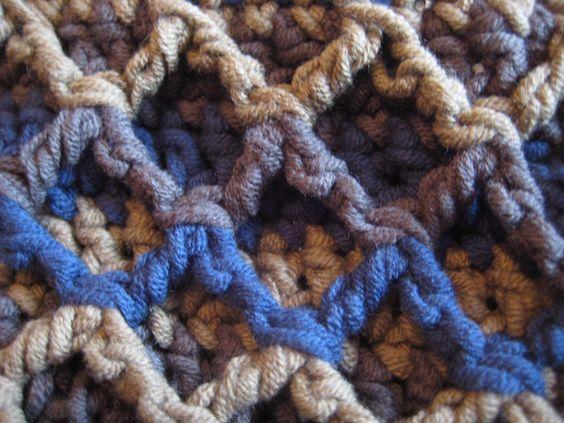 Zigzag scarf close up