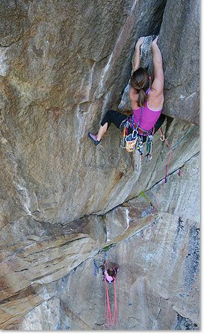 "Lynn Hill -Only person -- male or female -- to free-climb the ""Nose"" route of Yosemite's El Capitan in less than a day"