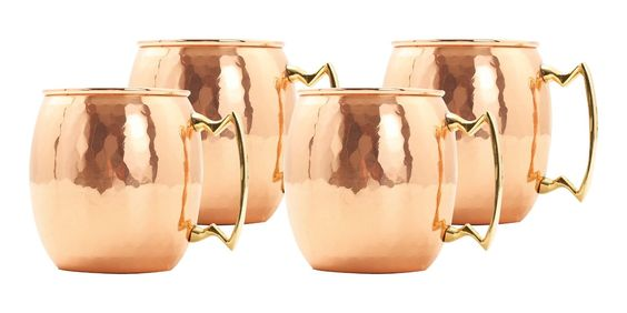 Old Dutch 16-Ounce Solid Copper Hammered Moscow Mule Mug, Set of 4: Kitchen & Dining Buy from MMP Living and Save BIG