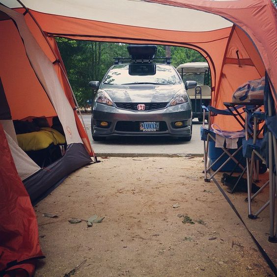 """""""Home base  #camplife #camping #hondafit #ge8"""" Photo taken by @rogervaldes on Instagram, pinned via the InstaPin iOS App! http://www.instapinapp.com (03/25/2015)"""