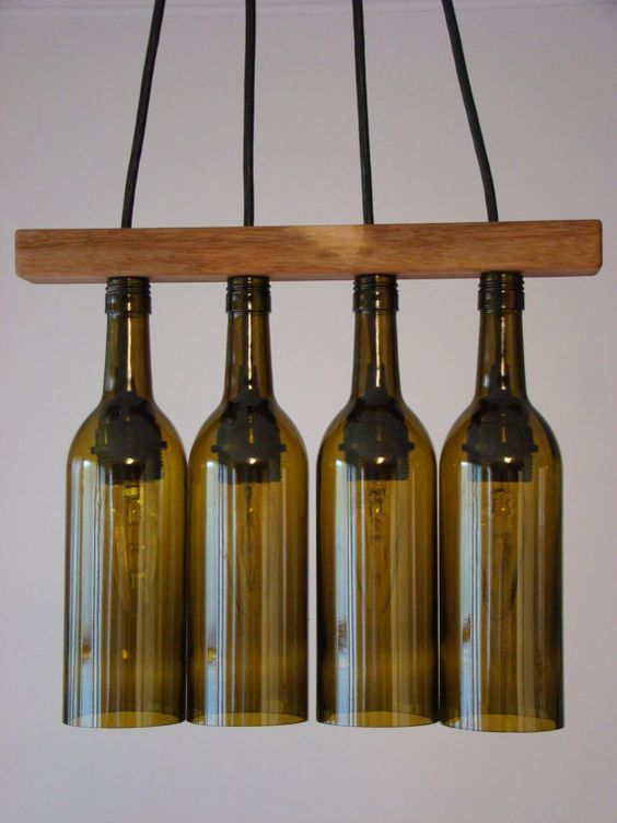 walnut seperator wine bottle chandelier by glow828 on etsy. Black Bedroom Furniture Sets. Home Design Ideas