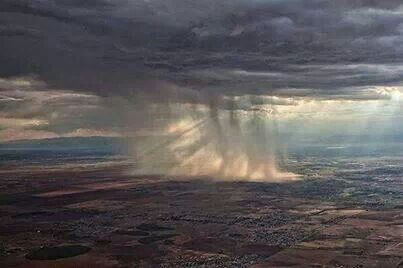 Rainfall from an airplane