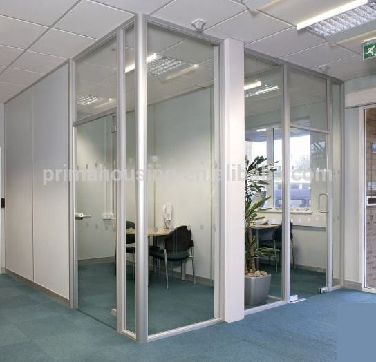 Source International Glass Frame With Aluminum Partition Wall For