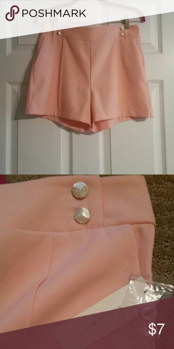 NWT Peach shorts by Sophie Rue NWT Peach shorts with button accents Sophie Rue Shorts