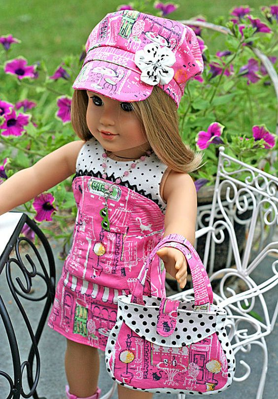 American Girl Doll 8 pc Bistro Cafe Outfit  by TallulahSophieToo, $45.00
