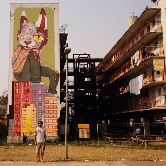 """""""O grandalhão"""" Mural para o projeto @_revivarte"""