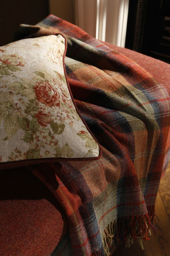 Wool Throw in Orchard Fruits from The Great British Ottoman Company - 27 hygge-inspired items for your home