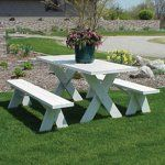 Dura-Trel 6 ft. Traditional White Picnic Table With Benches