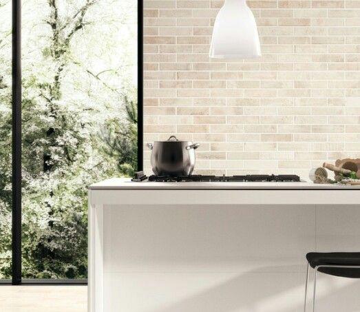 Kiln works calce now in stock 6x25 #design #featurewalls #kitchendesign #walls #tileideas #design #interiors