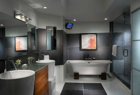 Modern bathroom pictures to decorate the interior - Shower - badideen modern